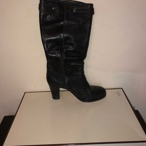 Authentic Coach Maxine black leather boots.
